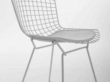 CH7177B #Net Chair - White