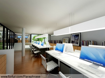 แบบห้องทำงาน Landscape Tectonix Office/ Working room