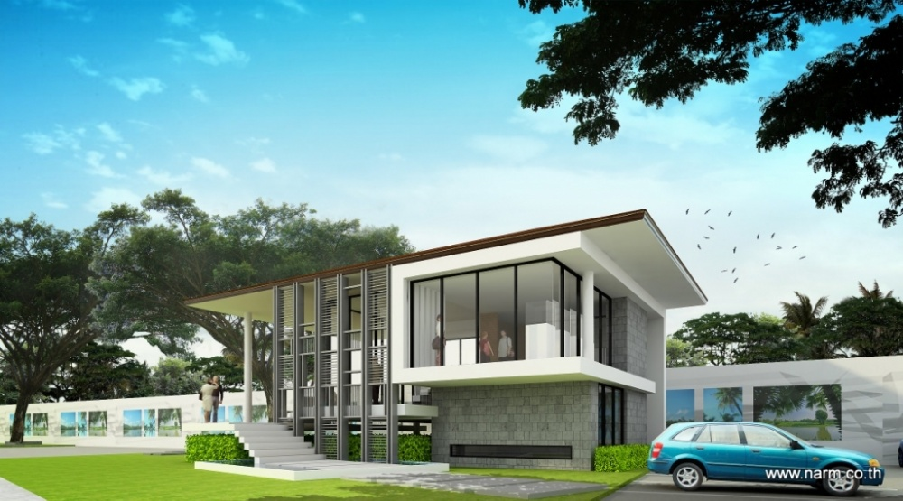 แบบบ้าน Moutain View Sales Office, Thung Song – SNK Development