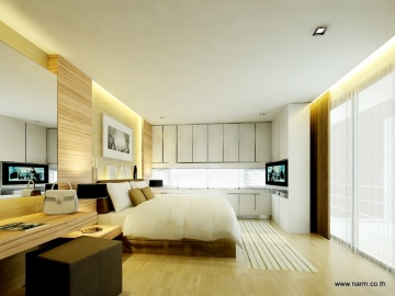 แบบห้องนอน Noble Cube, Vast Bedroom – K Busaba