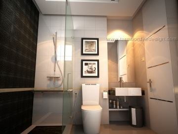 แบบห้องน้ำ Wind Condo - Ratchayothin/bathroom3